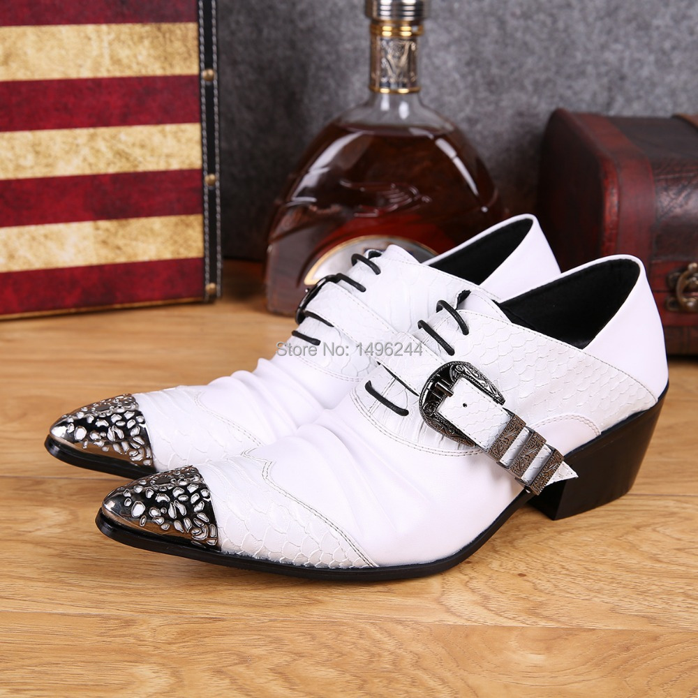 Фотография british Style men business Personalized  buckle lace-up fish shoes pointed-toe leather men