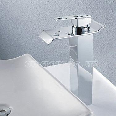 Фотография Free Shipping Brass Chrome Bathroom Faucet Wholesale Waterfall Faucet Single Hole Water Tap Basin Faucet banheiro torneiras