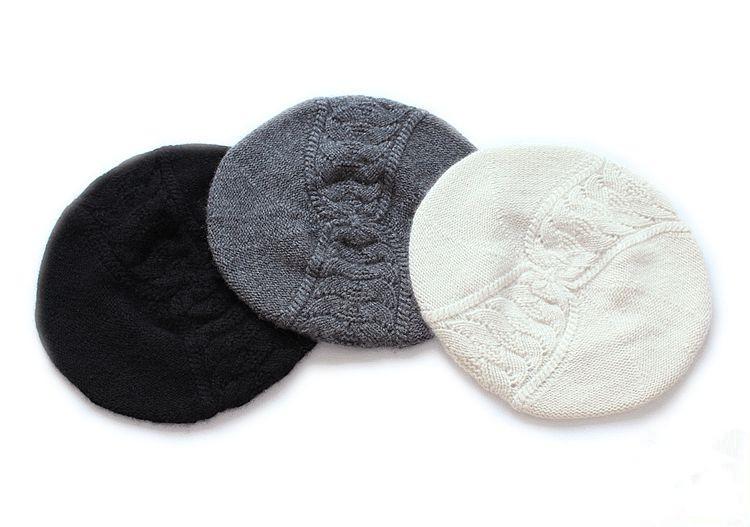 elegant design flat top ladies berets 100% goat cashmere women beanie hat short brim cap one&over size free shipping(China (Mainland))