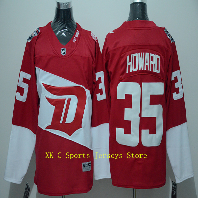 2016 Stadium Series Team Premier Jersey Detroit Red Wings Mens Jerseys 35 Jimmy Howard Red Ice Hockey Jerseys