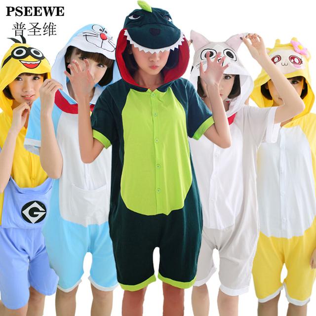 Летом с коротким рукавом из хлопка панда пикачу гадкий я пижама для женщин Onesie ...
