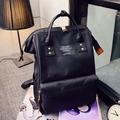 Teenage School Bags Pink Black Backpack Rucksack Canvas Casual Large Bags Travel Bagpack Sacos Mochilas