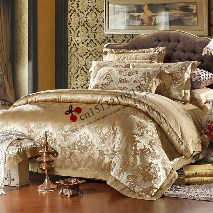 Luxury 100 cotton bedclothes bedding set queen king size for Bride kitchen queen set