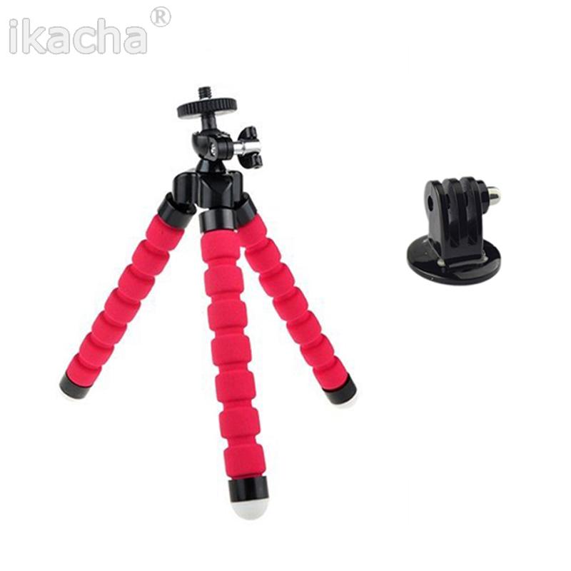 GoPro Mini Flexible Camera Tripod Octopus Bubble Mount Adapter SJ4000 Go Pro Hero 3+ 3 2 HD xiaomi yi - ikacha store