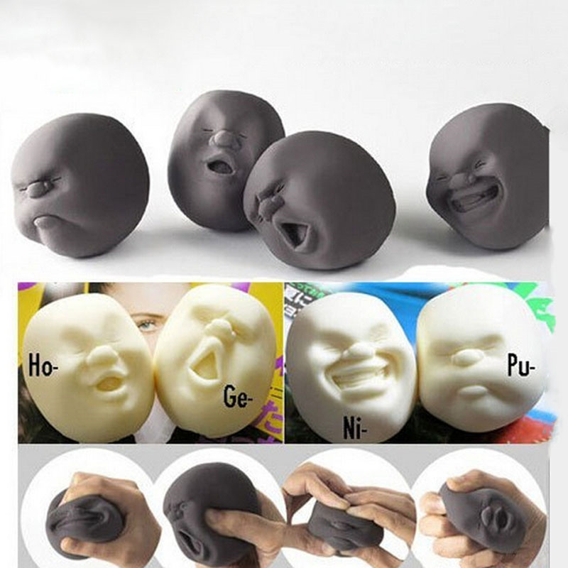 2016 Resin Funny Novelty Gift Japanese Vent Human Face Anti stress Ball Anti Stress Scented Toy Geek Gadget Party Funny Toys(China (Mainland))