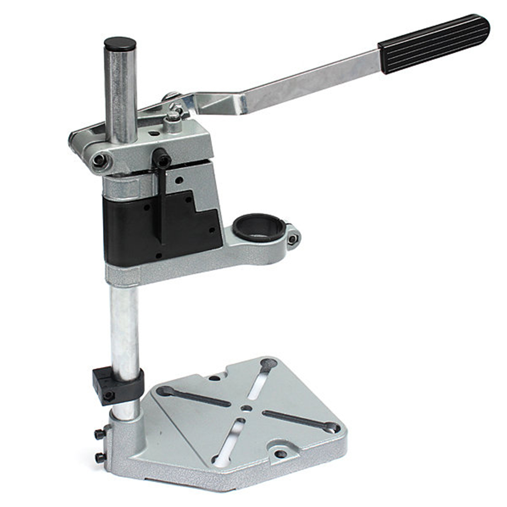 DIY Tool Double Clamp Base Frame Drill Holder Dremel Electric Drill Stand Power Rotary Tools Accessories Bench Drill Press Stand(China (Mainland))