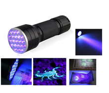 3AAA Aluminium Invisible Blacklight encre marqueur 21LED 21 LED UV Ultra Violet lampe de poche Torch lampe(China (Mainland))