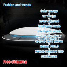 E4U free shipping Smart car air purifier Solar energy Anion Deodorant Filter dust Sterilization TVOC gas absorption Aromatic(China (Mainland))