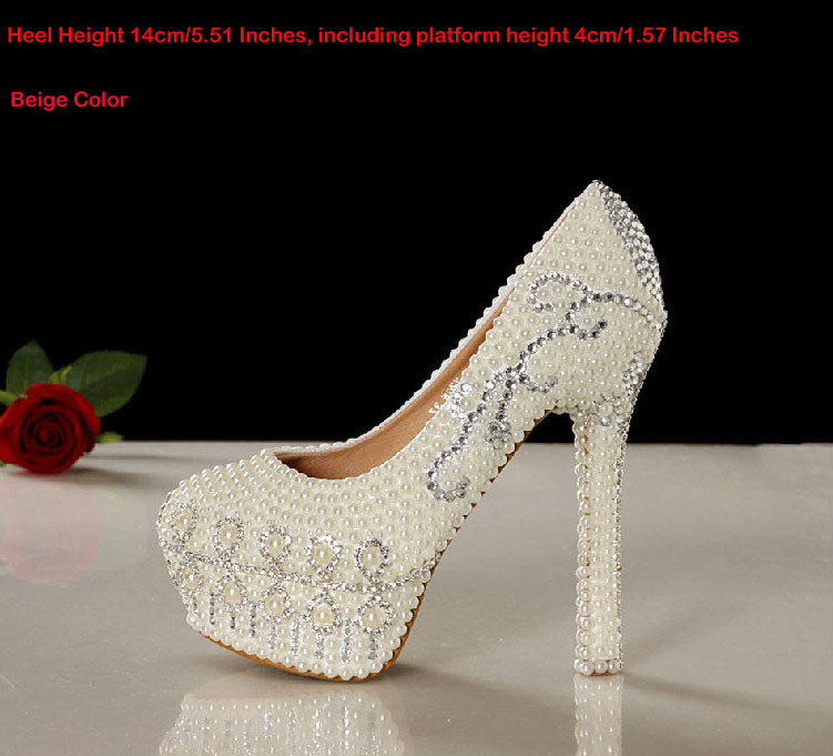 2014 New Arrival Pretty Wedding Shoes White Bridal Dress Shoes 14cm Super Heel Gorgeous Shoes Rhinestone Party Prom Dress Shoes<br><br>Aliexpress