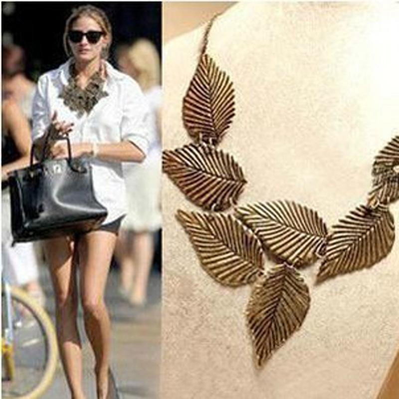 Ocean jewelry vintage elegant leaves necklaces pendants(China (Mainland))