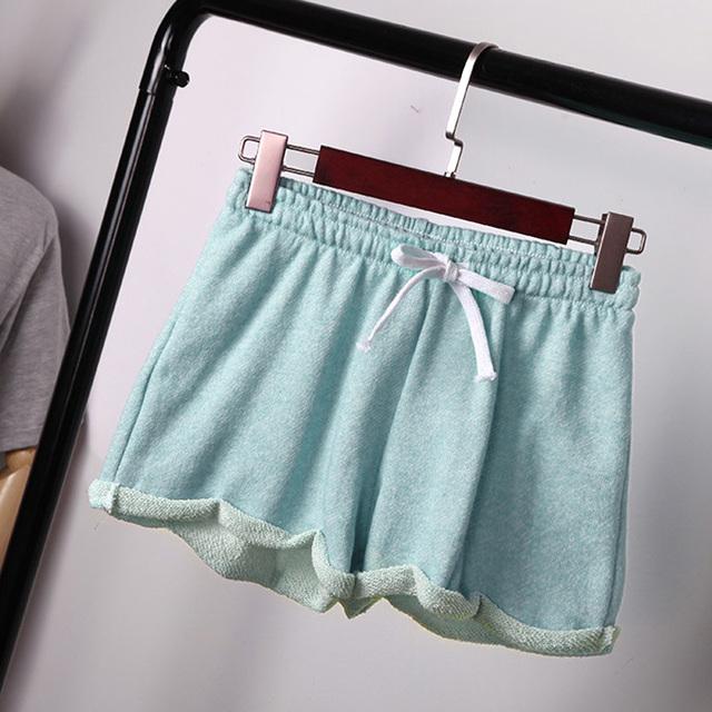 Бесплатная доставка летние шорты для бега женщин свободного покроя широкий спортивные ...