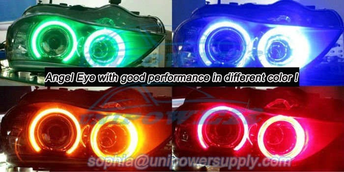 Free shipping CANBUS Error free H8 20W angel eyes LED CREE chips E39,E53,E60,E61,E63,E64,E65,E83,E87 for BMW