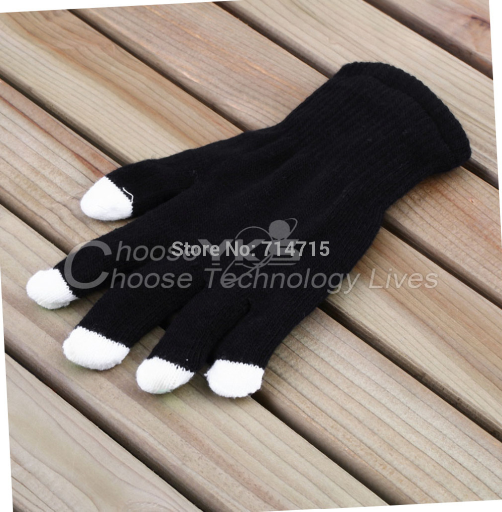 10Pairs Black LED 7 Mode Nylon LED Light Finger Flashing Glow Mittens Gloves(China (Mainland))