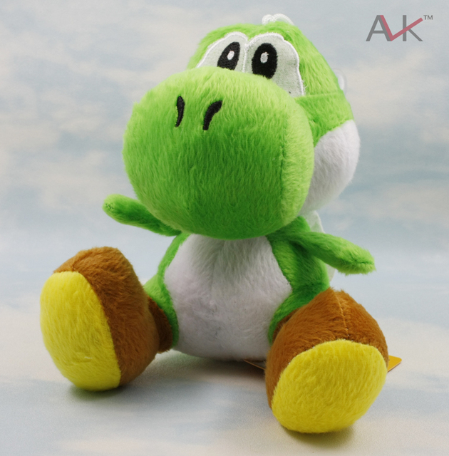 "free shipping retail 1pcs/lot High Quality Soft Plush New Super Mario Bros sitting Yoshi 7""  Doll Soft Toy"