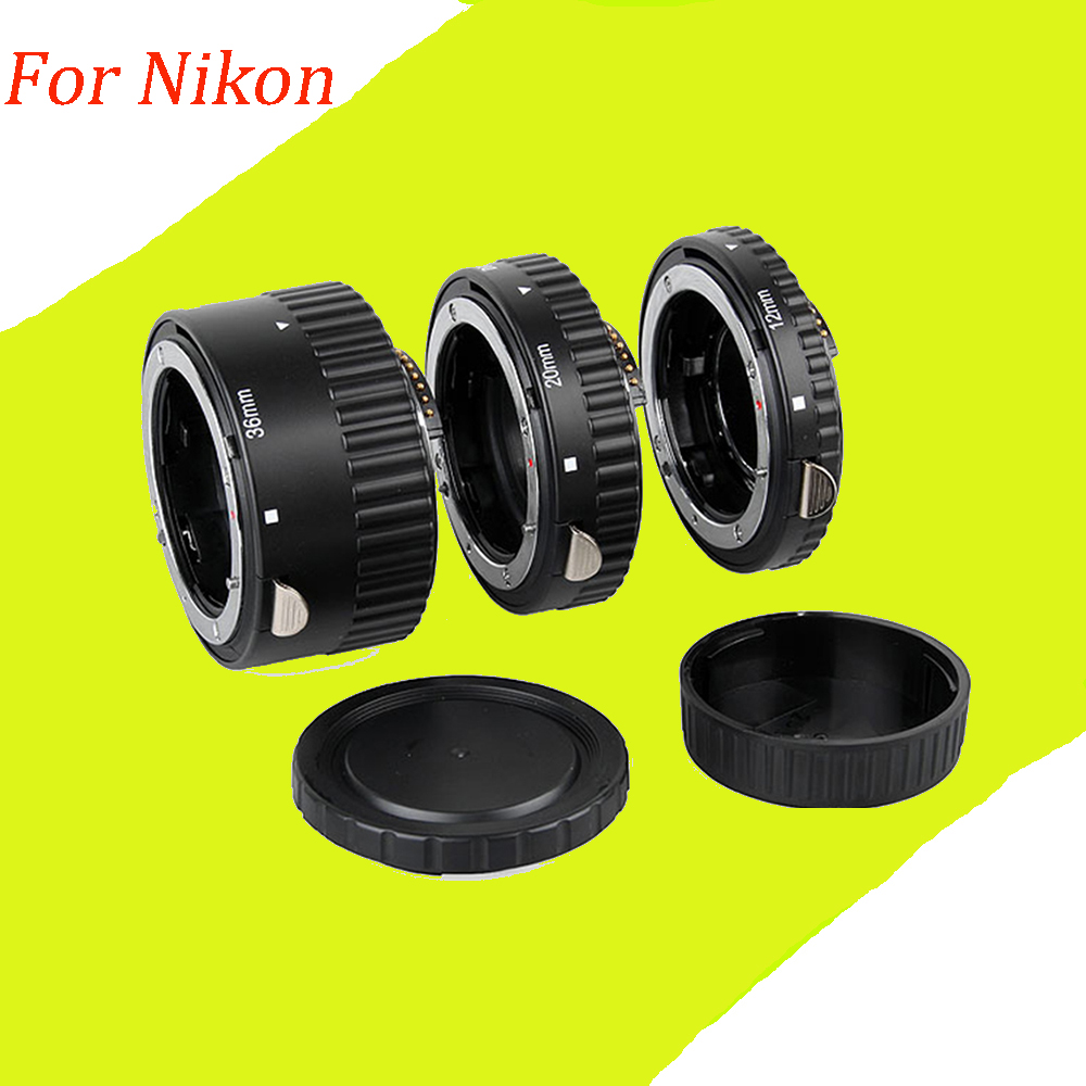 2pcs Metal Mount Auto Focus AF Macro Extension Tube Ring for Nikon d5300 d3200 d7000 d5200 d7100 d3300 Lens Adapter<br><br>Aliexpress