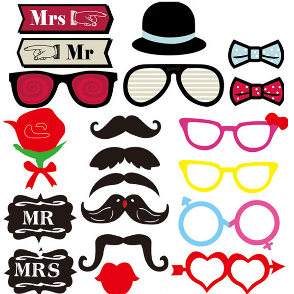 Marriage Mrs Mr Mustache Hat Mask Favor Gift photobooth photo booth prop engagement party supplies photocall wedding decoration(China (Mainland))