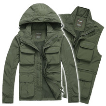 2015 Men's Brand AFS JEEP Outdoor Jacket Men Autumn Casual Military trench coat autumn thick cotton outerwear chaquetas jaqueta(China (Mainland))