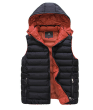 [ELITE] 2015 Fall/Winter Men's/Women's Hood Vest Waistcoat Warm Fashion Cotton-padded Vests Casual Sleeveless Winter Jacket(China (Mainland))