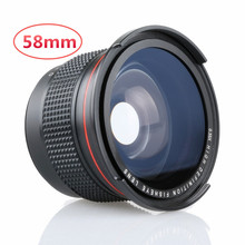 0.35x Fisheye Wide Angle Lens 58mm with a Macro Lens for Canon EOS 1100D 650D 600D 550D 500D LF277(China (Mainland))