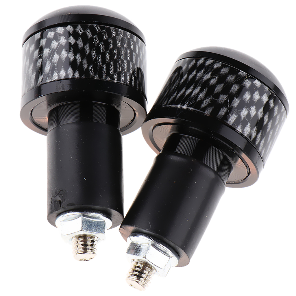 Motorcycle Cycling Expanding Handlebar End Plugs (2pcs), Universal for 22mm Diameter Hand Bar