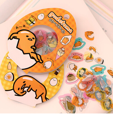 60 pcs/pack Sanrio Gudetama Lazy Egg Sealing Stickers Diary Label Stickers Pack Decorative Scrapbooking DIY Stickers(China (Mainland))
