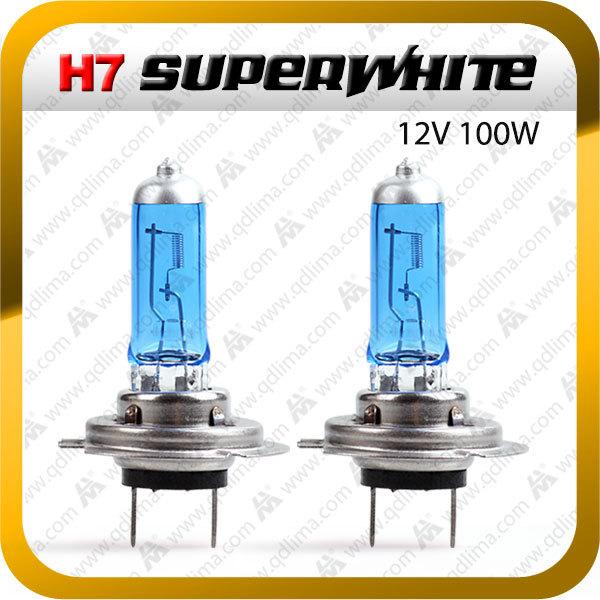 2 x H7 12v 100w Super White Xenon Halogen Headlight Head Lamp Bulbs+ freeshipping(China (Mainland))