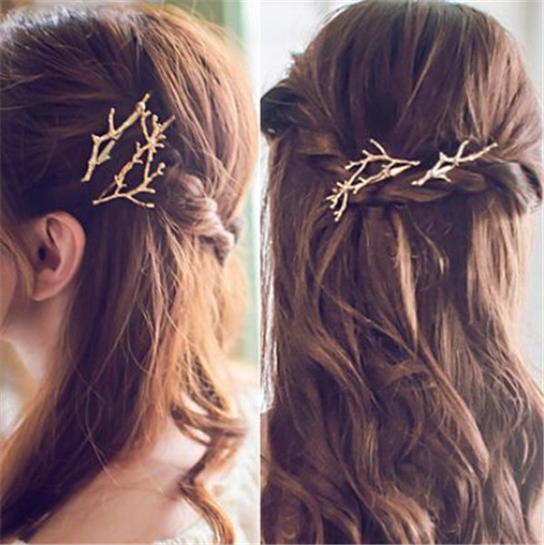 Newest factory wholesale 2pcs/lot fashion metal deer hair clips for girls lovely hair pins(China (Mainland))