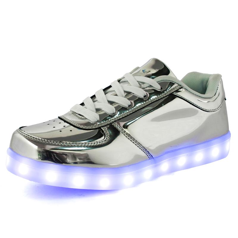 Гаджет  11 Colors High Quality 2015New Fashion Shiny surface Led Shoes Casual Women & Men Shoes, Led Luminous USB Charging Lights shoes None Обувь