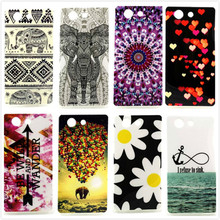 For Sony Xperia Z3 Compact Z3 Mini Anti Skid Gel TPU Slim Rubber Silicone Back Soft Transparent Frame Phone Case Cover