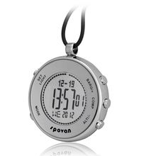 Spovan sport pocket watch alarm pocket & fob watches relogio masculino Stopwatch Compass temperature weather forecast barometer(China (Mainland))