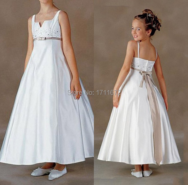 Plus size flower girl dress patterns cheap wedding dresses for Second hand wedding dresses near me