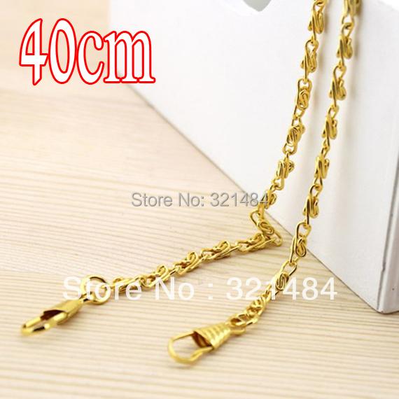 Gold plated 40cm 50pcs 4mm Handbags Metal Purse Chain Handles WHOLESALE<br><br>Aliexpress