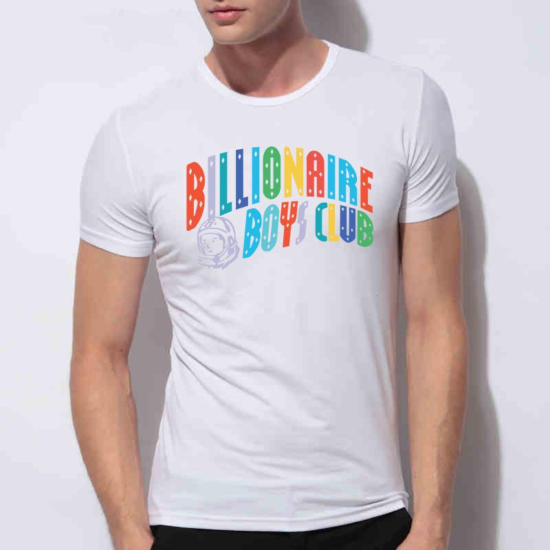Unique Billionaire Boys Club t shirt men Pure Cotton Round Neck Short Sleeve tshirt Hip Hop Roll billionaire t-shirt(China (Mainland))