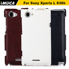 Buy Sony Xperia L Case Flip Leather Cover Sony Xperia L S36h c2105 c2104 iMUCA Case cover Mobile Phone Accessories for $6.04 in AliExpress store