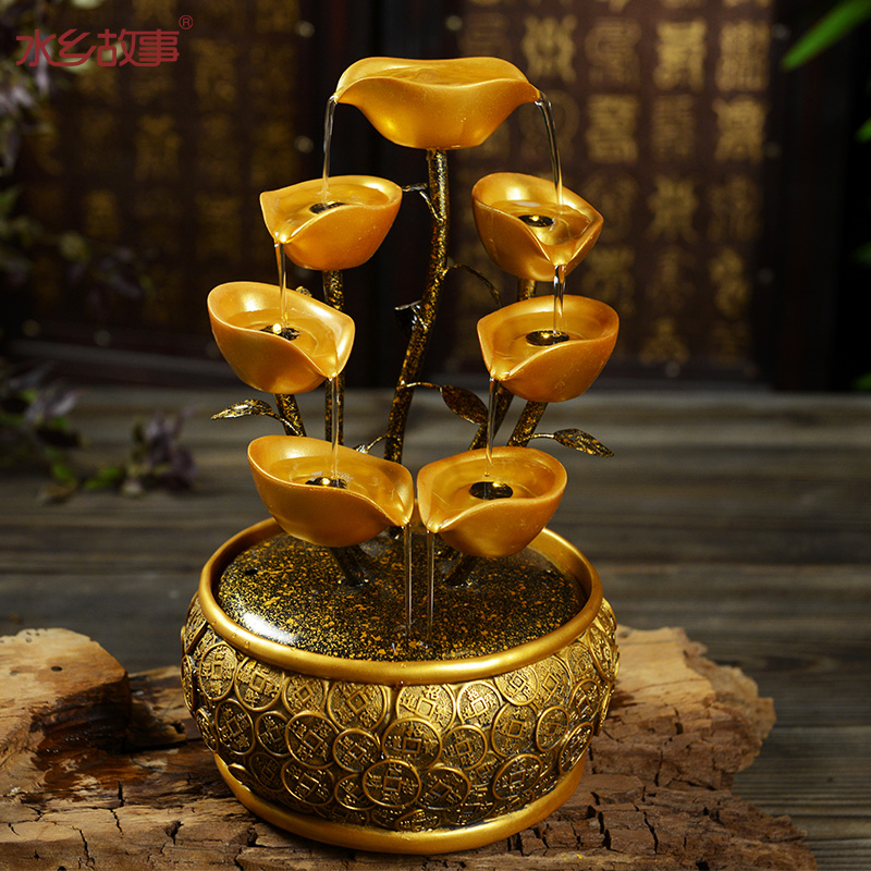 Chinese style tieyi lucky decoration water fountain water for Water feature feng shui