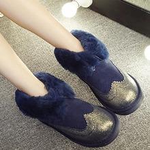 Envío Gratis Top Fashion Nuevo de Las Mujeres Botas 2017 Mujeres Del Invierno zapatos 100% Cuero Genuino de la Nieve Cargadores de la Señora Caliente Del Tobillo de la Marca zapatos(China (Mainland))