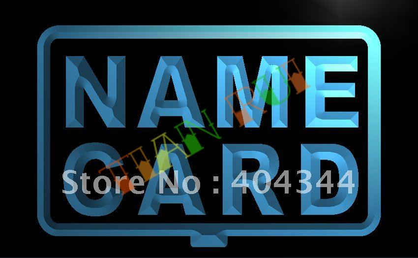 LB240- NAME CARD Custom OPEN LED Neon Light Sign(China (Mainland))