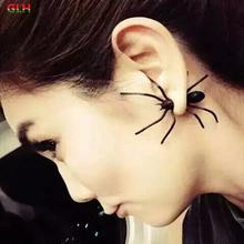 2016 jóia nova moda menina legal aranha preta do parafuso prisioneiro brincos dom feminino direto da fábrica ( preço único )