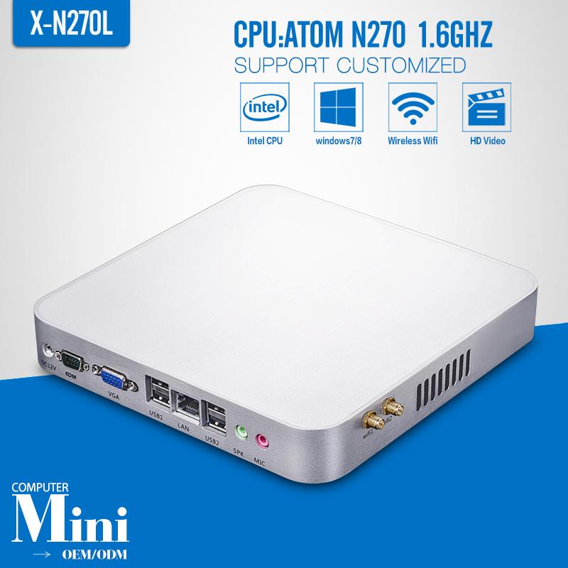 N270 Barebone pc Desktop Computer Thin Client Support Hd Video Smallest Computer Tablet VGA/HDMI(China (Mainland))