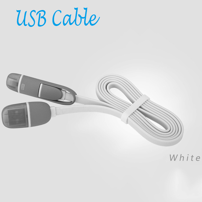 2015 2 in 1 Multi 1M 8Pin Mini Charging Data Sync Micro Cabo Usb Cable Charger For IPhone Android Mobile Phone Universal Cables(China (Mainland))