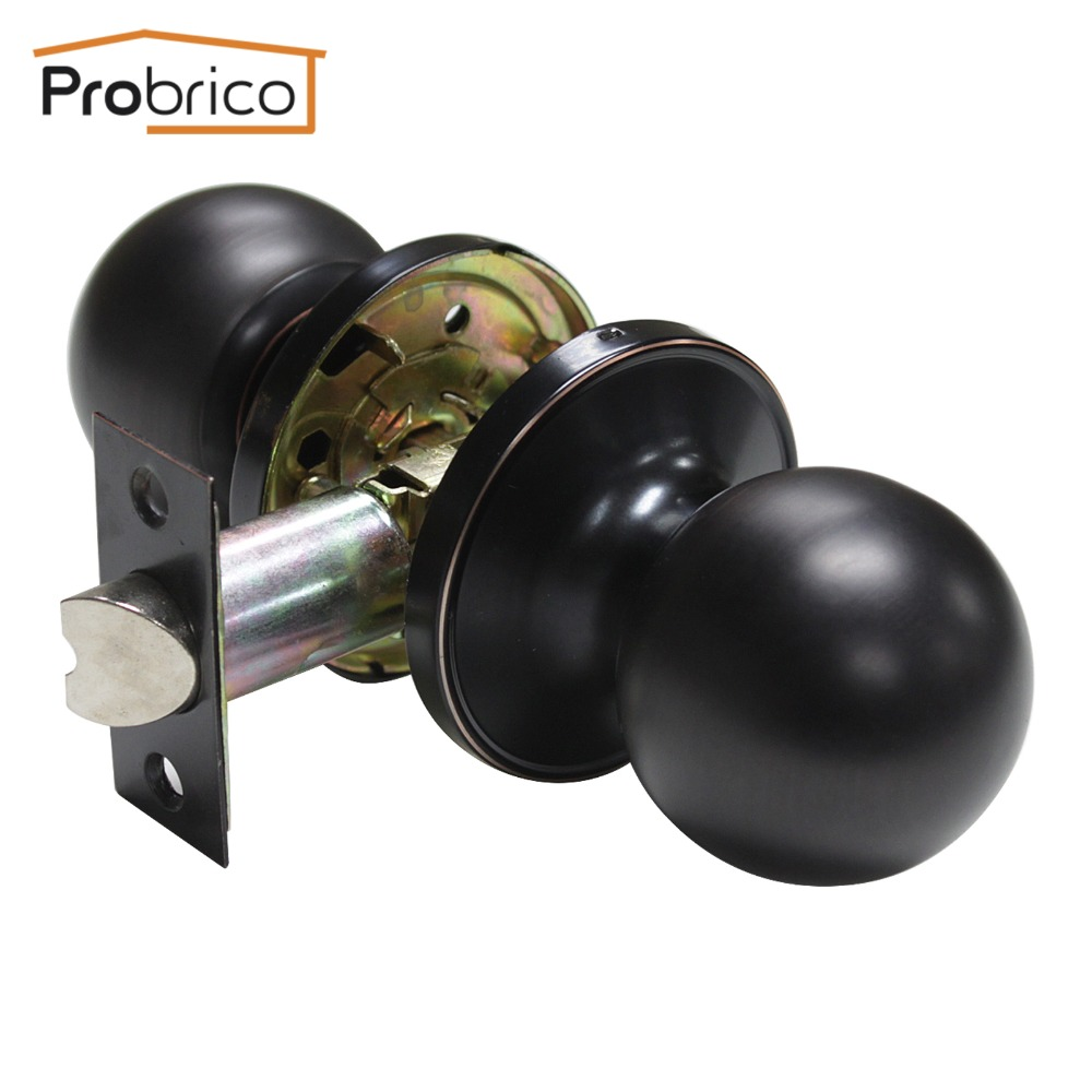 Probrico Wholesale Stainless Steel Passage Keyless Door Lock Oil Rubbed Bronze DL607ORBPS Interior Door Handle(China (Mainland))