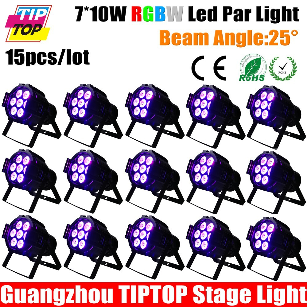 10pcs/lot Fast Delivery Flat Slim 7*10W quar color LED RGBW Par Can DMX PAR stage lighting, DMX control led lamps, DJ equipment<br><br>Aliexpress