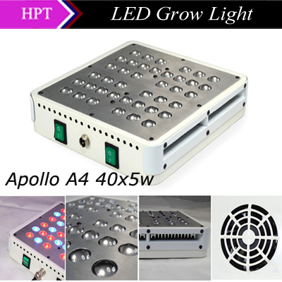 Excellent 2015 Apollo Design 40x5w led grow light Powerful 200w Grow light for Hydroponics Greenhouse plants growth flowering(China (Mainland))