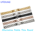 Luxury Stainless Steel Watchband For Pebble Time Round Smart Watch Strap Wrist Bands Replacement For