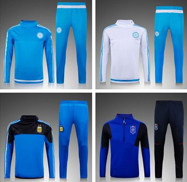 2016 Survetement Football Italy maillot de foot Marseille Training suit Argentina Soccer Tracksuits Chandal jogging skinny pants(China (Mainland))