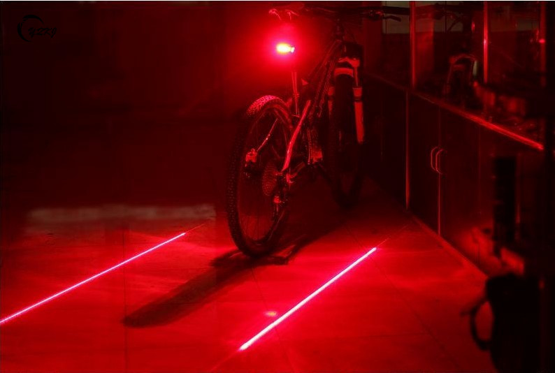 Bicycle LED Tail Light Safety Warning Light 5 LED+ 2 Laser Red Night Mountain Bike Rear Light Lamp Bycicle Light TL0101(China (Mainland))