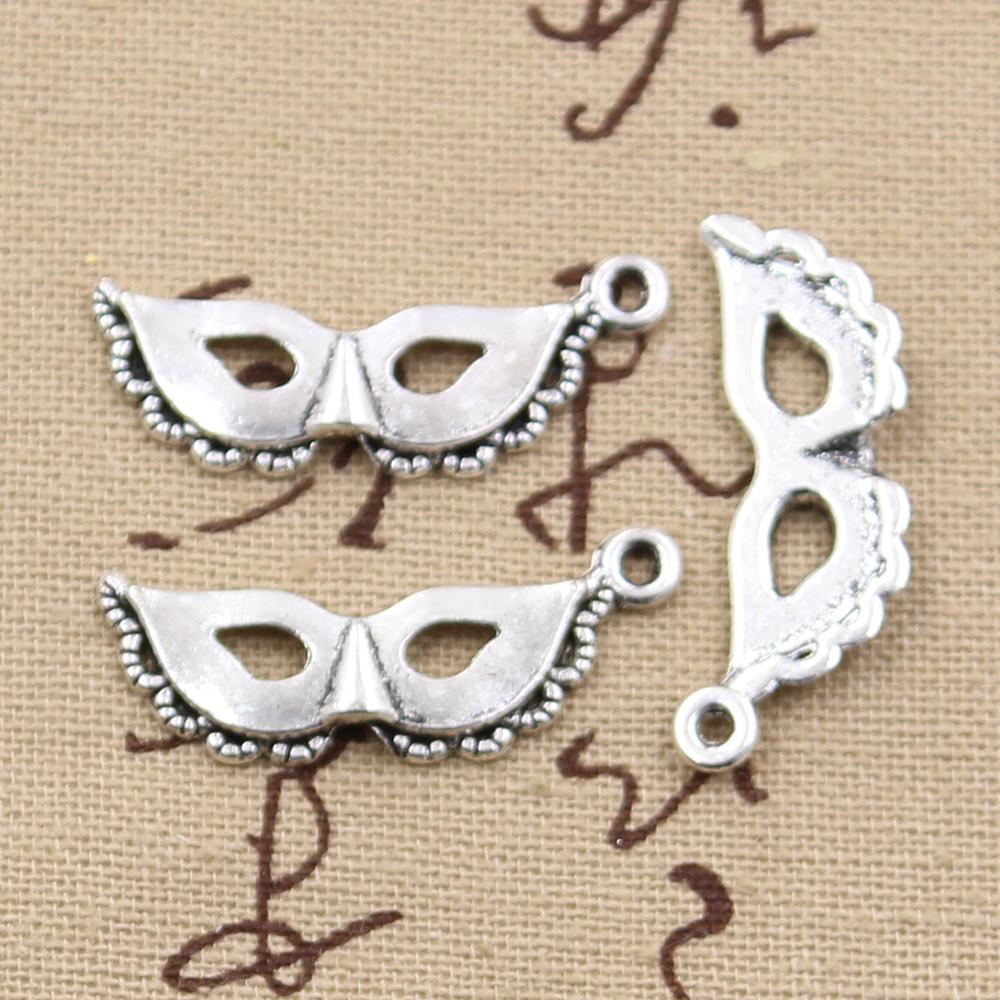 99Cents Charms party mask masquerade mardi gras 31*12mm Antique pendant fit,Vintage Tibetan Silver,DIY bracelet necklace - DIY Jewelry Shop store