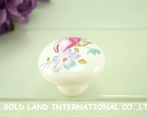 D32xH27mm Free shipping ceramic button furniture knobs drawer knob<br><br>Aliexpress