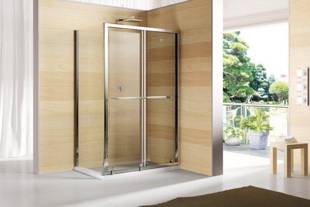 Koop rechthoek schuifdeur douchecabine glas badkamer met douche 1200x800mm dy - Badkamer met glas ...