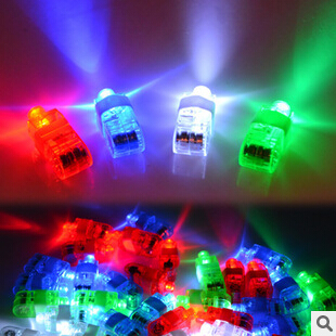 Best Birthday Gift Freeshipping Halloween Gift, Finger Flashlights, LED Finger Light Beams Ring Torch For Party M094(China (Mainland))